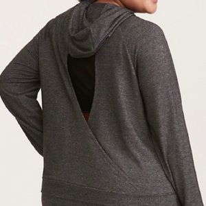 TORRID ACTIVE  hooded pullover with wrap back